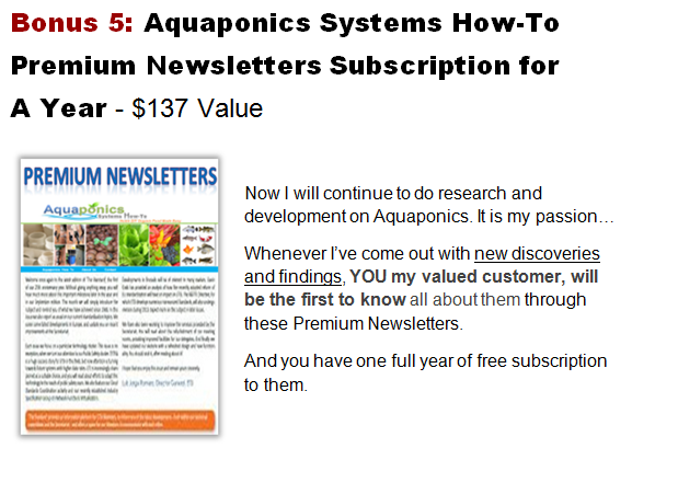 Aquaponics system how-to premium newsletters