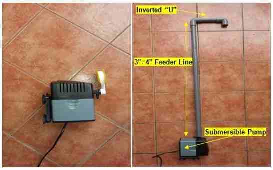 submersible pump and pvc setup